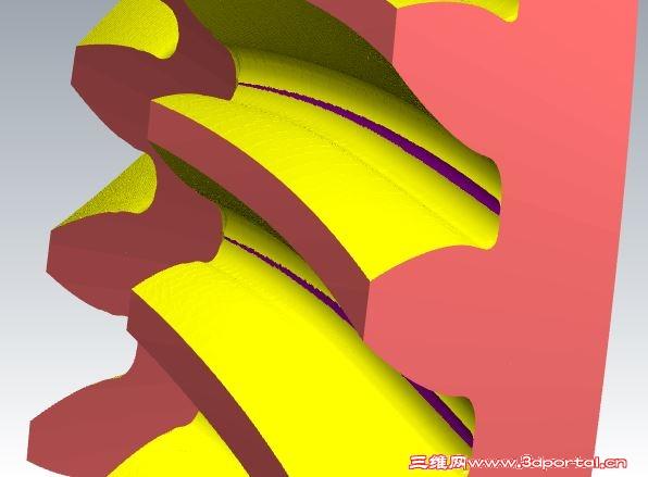[分享] 格林森圆锥弧齿的四轴加工图片